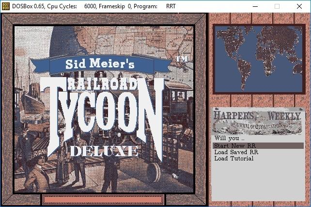 Screenshot 1 - Railroad Tycoon Deluxe