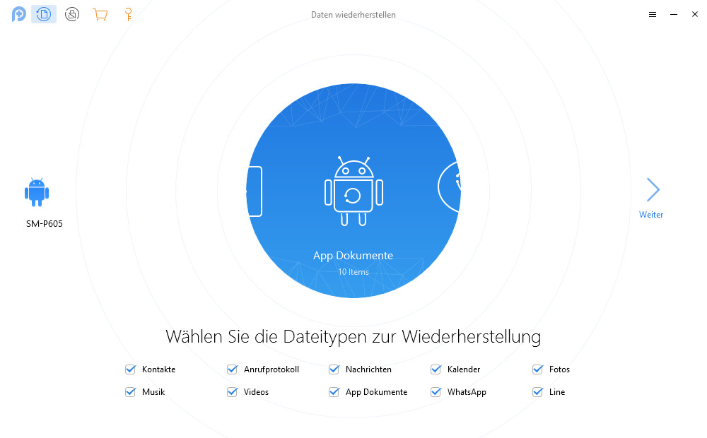 Screenshot 1 - PhoneRescue (Datenrettung für Android & iOS)