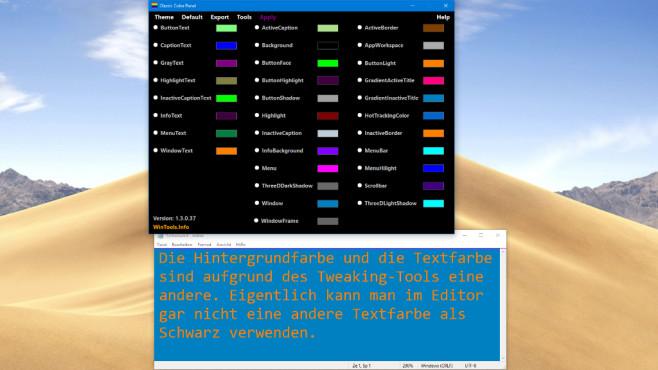 Alle erdenklichen Systemfarben ändern ©COMPUTER BILD