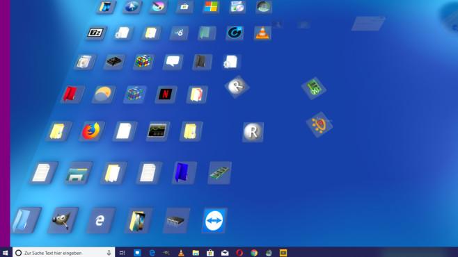 Desktop in 3D ©COMPUTER BILD
