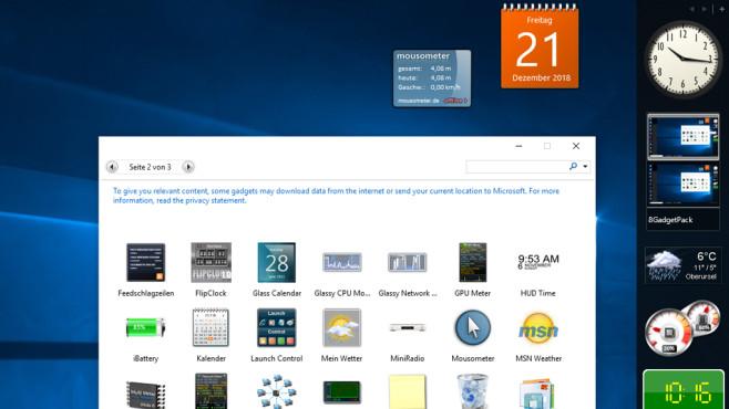 Windows mit Widgets ausstatten ©COMPUTER BILD