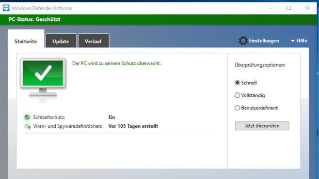 Gegenwehr: Windows Defender nutzen ©COMPUTER BILD