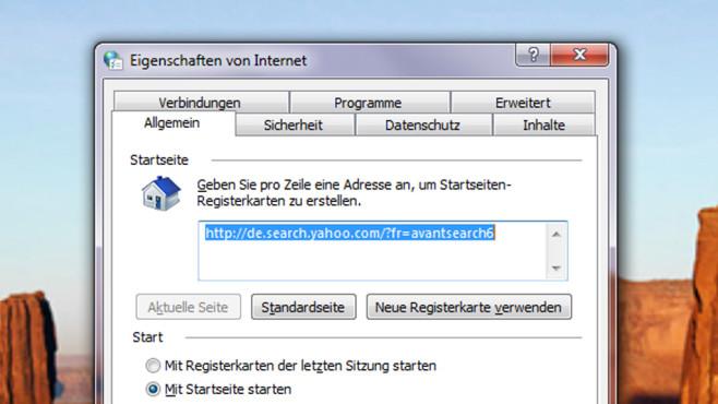 Malware-Check: Browser-Startseite verstellt ©COMPUTER BILD