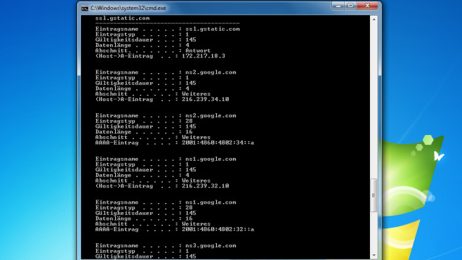 Malware-Check: DNS-Cache-Einträge ©COMPUTER BILD