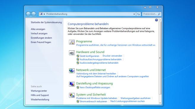 Nachsorge: Troubleshooting-Assistenten ab Windows 7 ©COMPUTER BILD