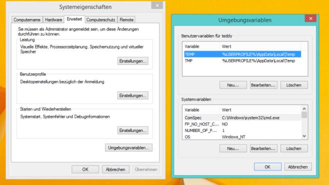 Windows 7/8/10: Umgebungsvariablen – was ist das? Die besten Tipps©COMPUTER BILD