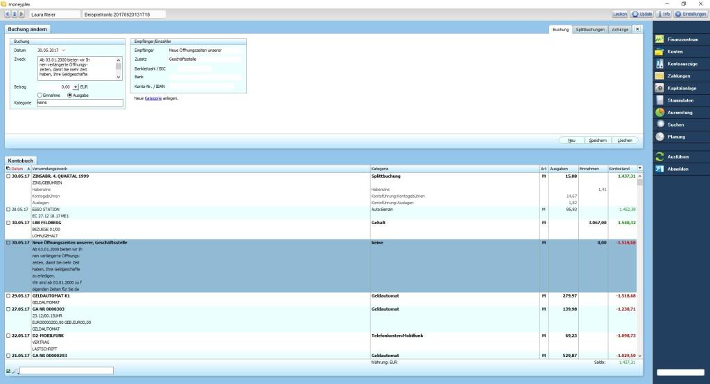Screenshot 1 - Moneyplex – Kostenlose Vollversion