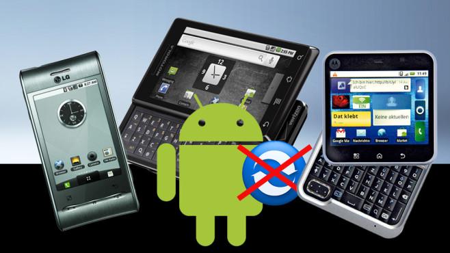 Keine App-Updates mehr mit Android 2.1©JJAVA – Fotolia.com, Android, Motorola, LG