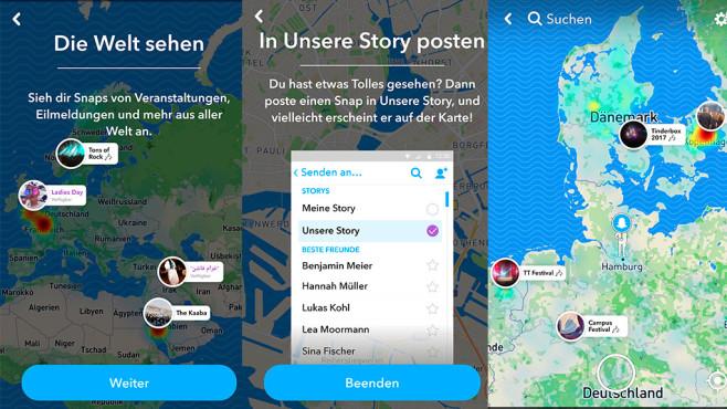 snapchat karte öffnen Snap Map: Standort teilen in Snapchat   COMPUTER BILD