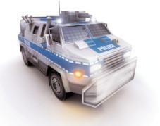 Emergency 4 – Global Fighters for Life: Fast ein Panzer: der Wasserwerfer der Polizei. Damit können Sie zum Beispiel dreisten Plünderern eine kalte Dusche verpassen.