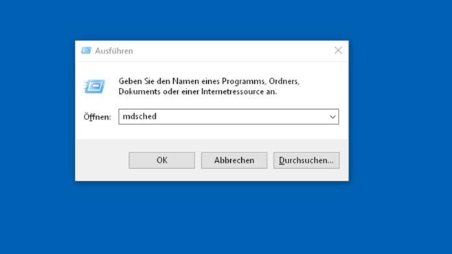 Windows-Speicherdiagnose öffnen©COMPUTER BILD