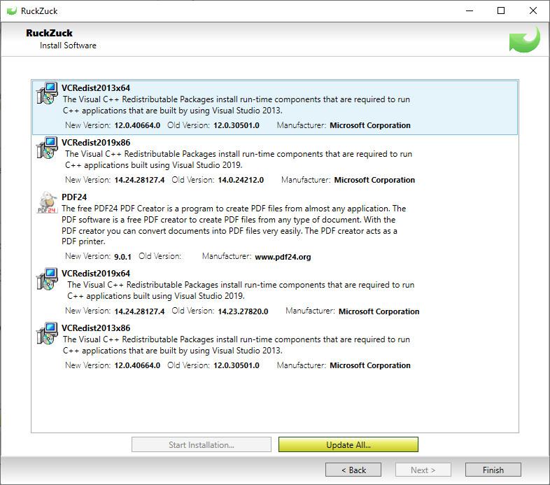 Screenshot 1 - RuckZuck