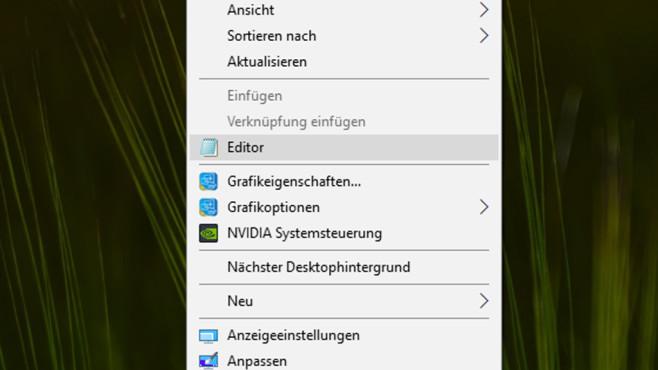 Aufruf per Desktop-Kontextmenü ©COMPUTER BILD