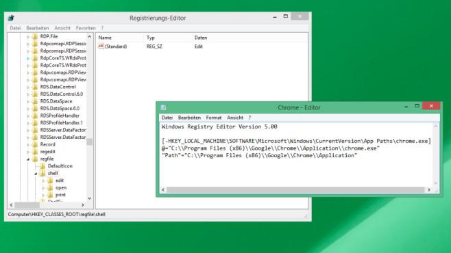 REG-Dateien im Editor öffnen ©COMPUTER BILD