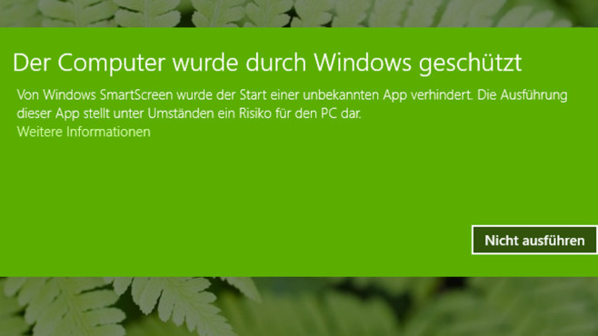SmartScreen-Warnungen deaktivieren ©COMPUTER BILD