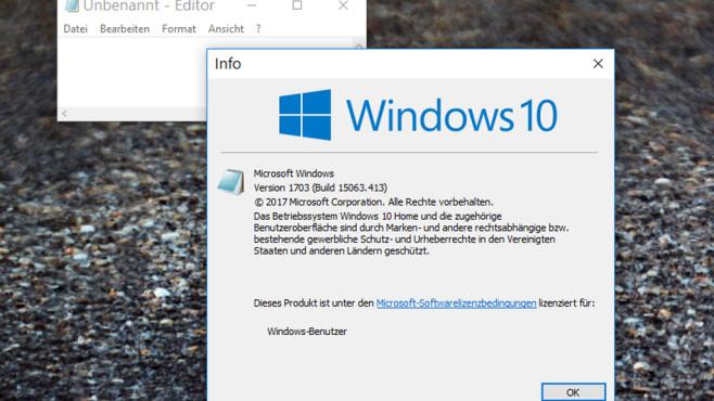 Windows-Infodialog öffnen ©COMPUTER BILD