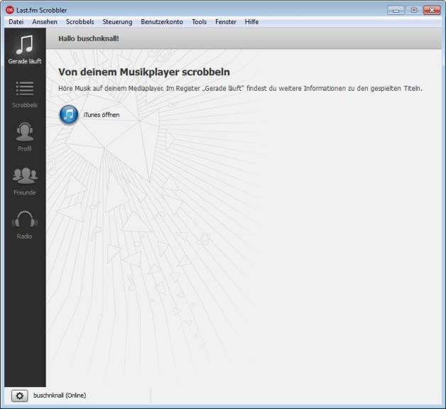 Screenshot 1 - Last.fm Scrobbler