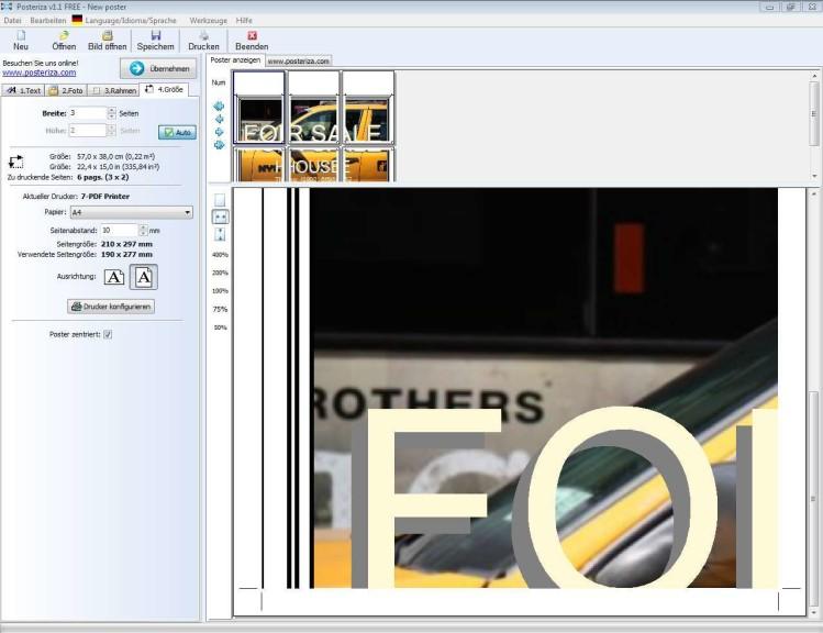 Screenshot 1 - Posteriza