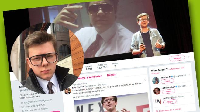 Erik Finman auf Twitter©Screenshot Twitter-Account Erik Finman