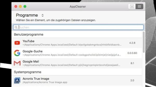 AppCleaner (Mac) – Software entfernen ©COMPUTER BILD