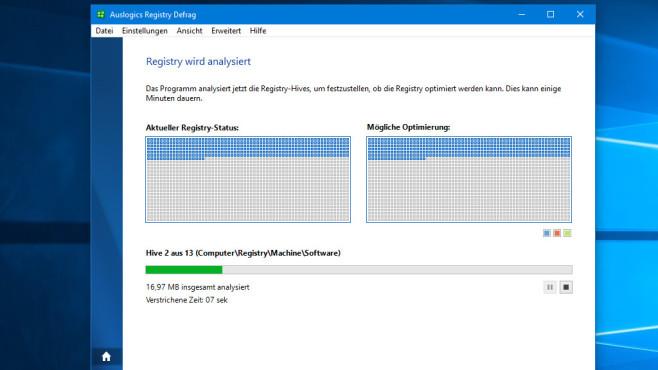Auslogics Registry Defrag – System optimieren ©COMPUTER BILD