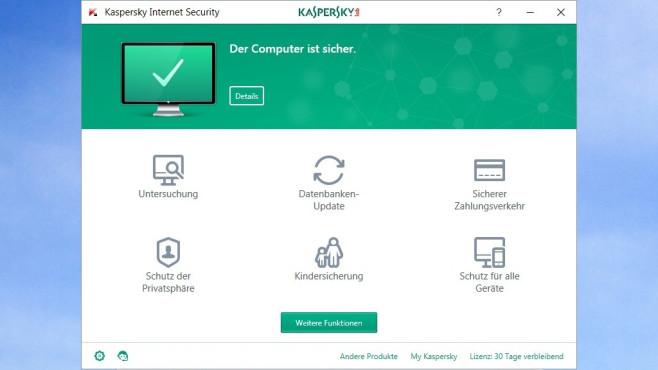 Kaspersky Internet Security – Viren, Trojaner & Co. abwehren ©COMPUTER BILD