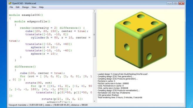 OpenSCAD – Konstruieren am PC ©COMPUTER BILD