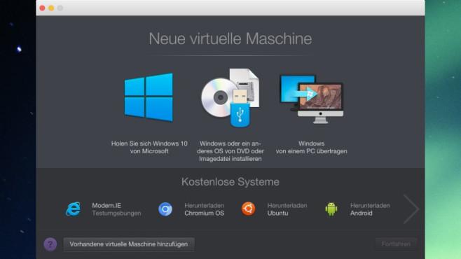 Parallels Desktop – kommerzieller Virtualisierer ©COMPUTER BILD