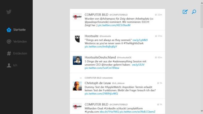 Twitter als Desktop-/Windows-App – soziales Netzwerk ©COMPUTER BILD