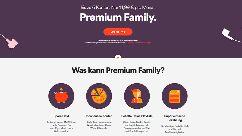 Spotify Karte Kaufen Schweiz.Spotify Arger Um Den Familien Tarif Computer Bild