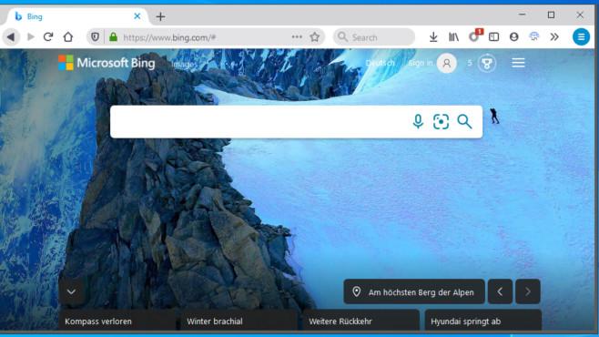 Tipps zu Bing: Mit diesen 30 Kniffen verwenden die Microsoft-Suche effektiver Der Firefox-basierte Waterfox macht manches besser als das Original. Bing-Liebhaber kommen auf ihre Kosten und müssen in Sache Adresleiste nichts ändern, denn die Microsoft-Suche verrichtet bei dem Browser werkseitig ihre Arbeit.©COMPUTER BILD