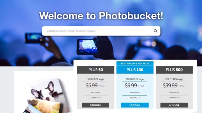 Photobucket: Neues Preismodell©Photobucket, COMPUTER BILD