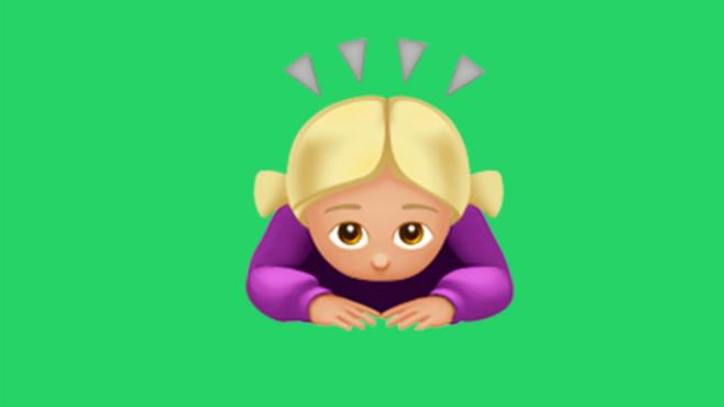 WhatsApp Emoji Verbeugung ©Apple/WhatsApp