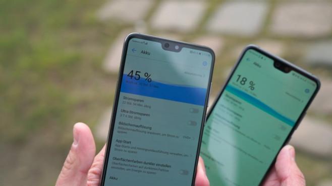 Huawei P20: Test, News, Preis, Release, vorbestellen – alle Infos! Das P20 (rechts) hat für seine Größe mit gut 13 Stunden bei intensiver Nutzung eine gute Akkulaufzeit. Das P20 Pro ist mit über 16 Stunden sogar noch besser.©COMPUTER BILD