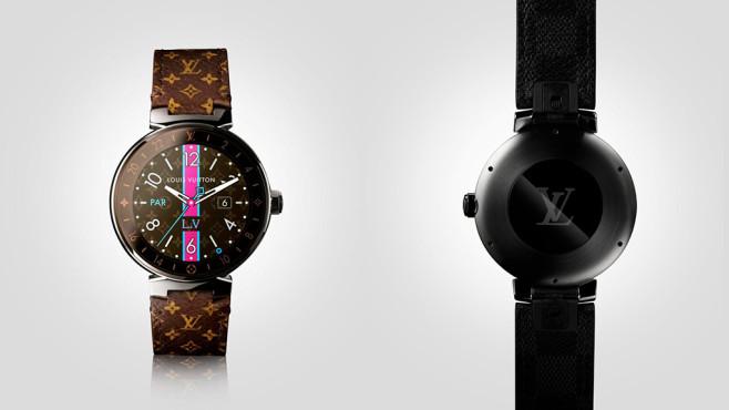 Louis Vuitton setzt das markentypische Muster auf das Armband der Smartwatch.©Louis Vuitton