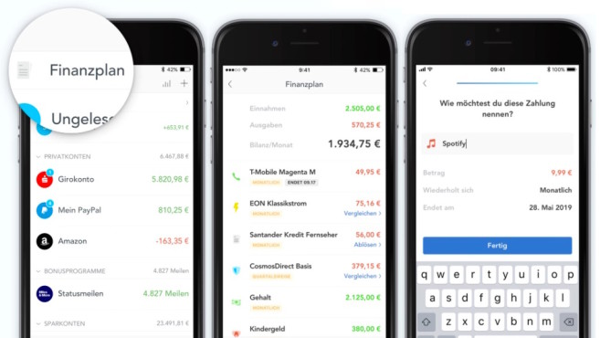 Outbank-App mit Finanzplan©Outbank, COMPUTERBILD