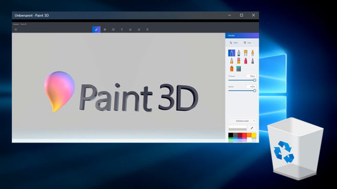 Windows 10: Tipps, mit denen Sie erfolgreich Paint 3D©Microsoft
