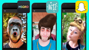 Masken-Apps im Test©Snapchat, B612, MSQRD