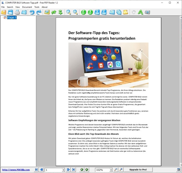 Screenshot 1 - Free PDF Reader