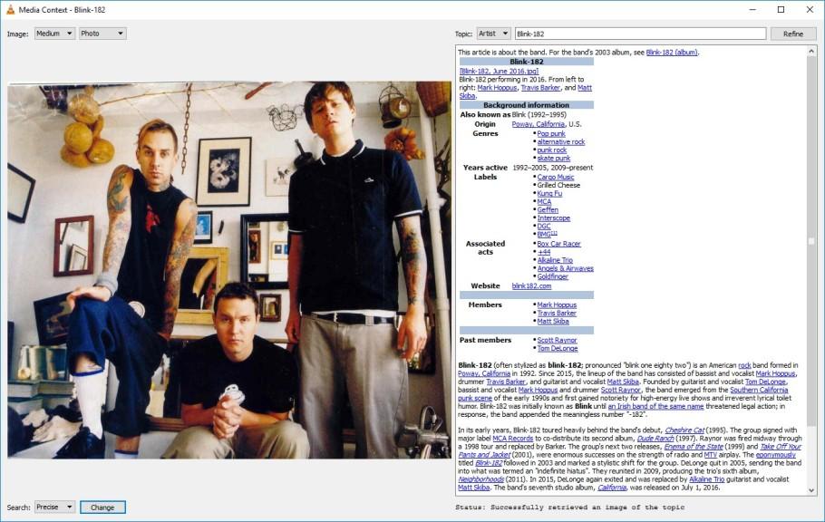 Screenshot 1 - Media Context für den VLC Player