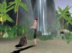 Die Sims � Gestrandet: Affe, Wasserfall und Palmen: Auf dieser Insel gibt es alles, was ein Sim zum Gl�cklichwerden braucht.©computerbild.de