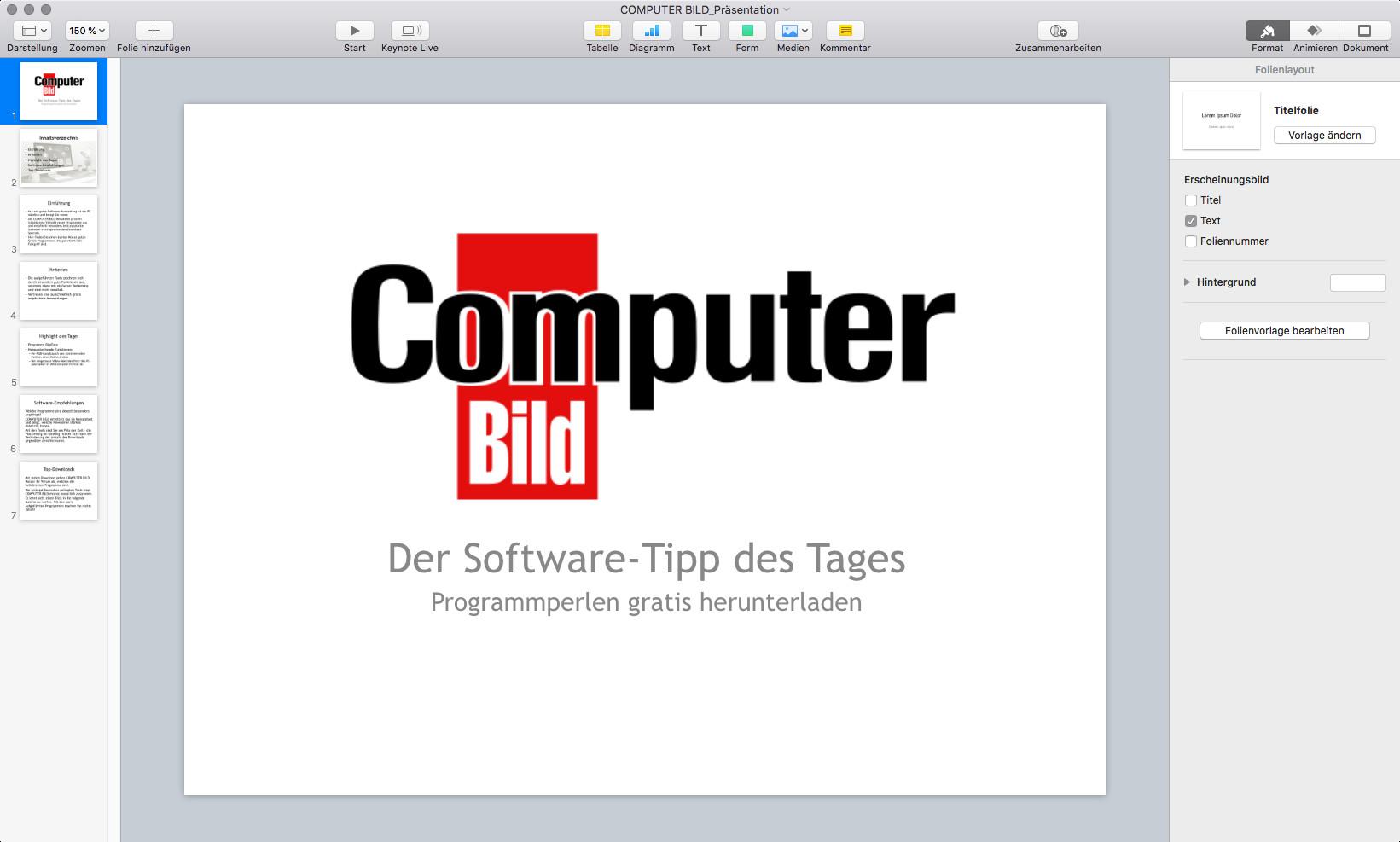 Screenshot 1 - Keynote (Mac)