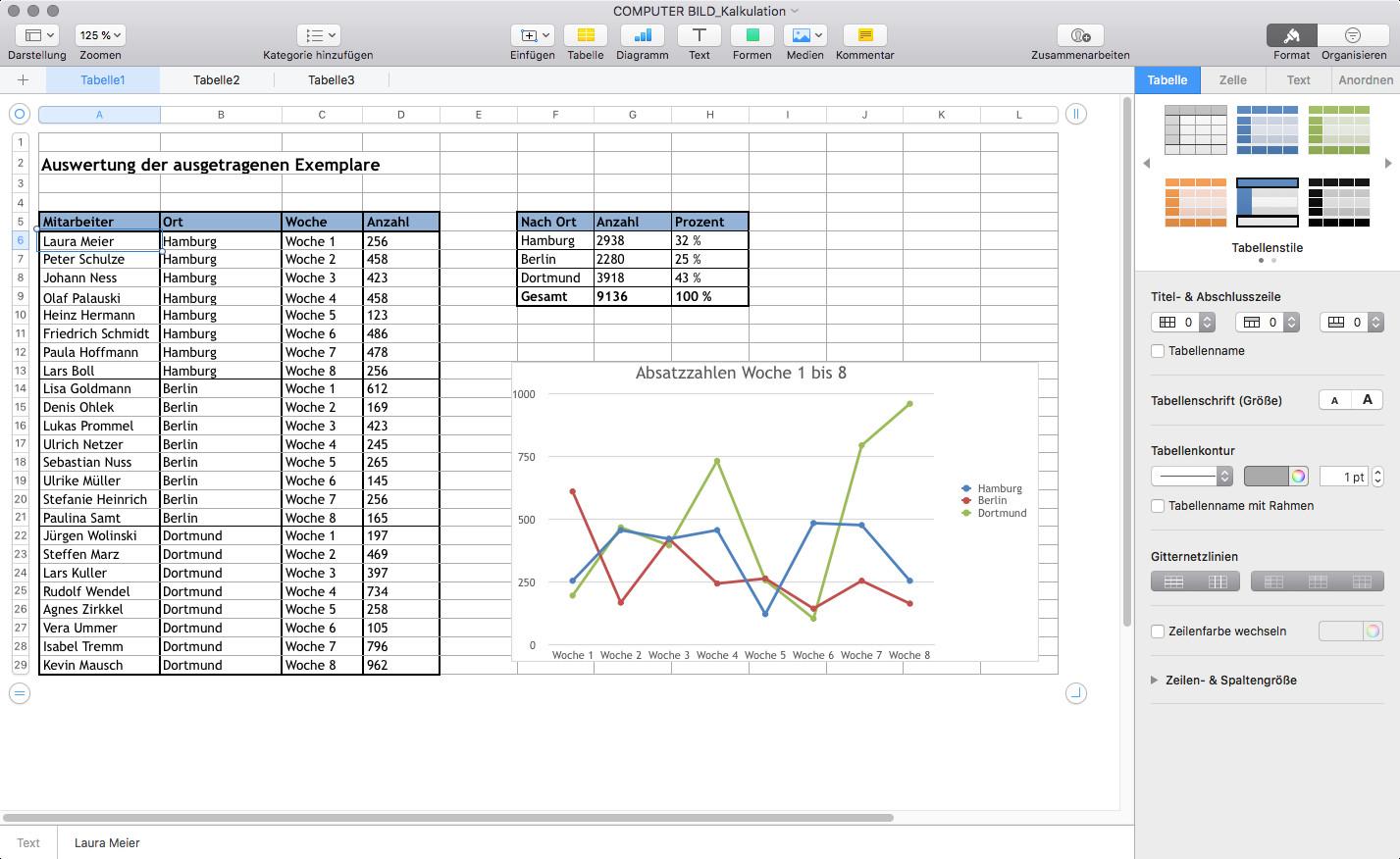 Screenshot 1 - Numbers (Mac)