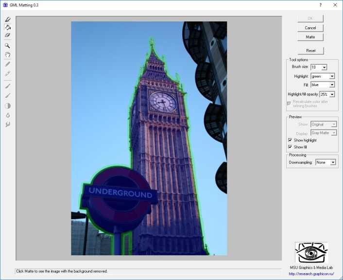 Screenshot 1 - GML Matting