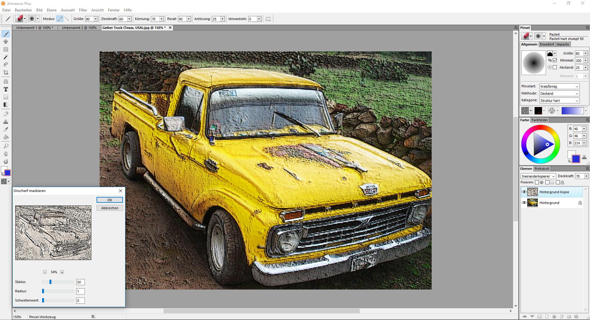 Screenshot 1 - Artweaver 4 Plus – Kostenlose Vollversion