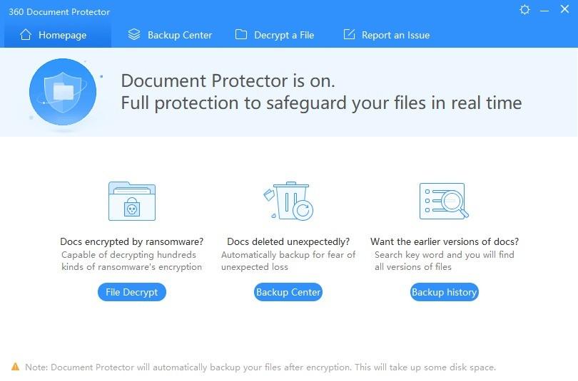 Screenshot 1 - 360 Document Protector