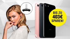 Beats(x)-Kopfhörer mit iPhone 7 im günstigen Tarif-Bundle©Beats, Apple, COMPUTER BILD