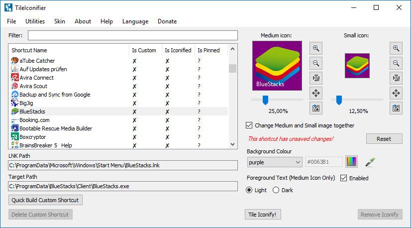 Screenshot 1 - TileIconifier