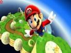Super Mario Galaxy: Dank der Schwerelosigkeit fliegen Sie mit Mario durch den Raum.