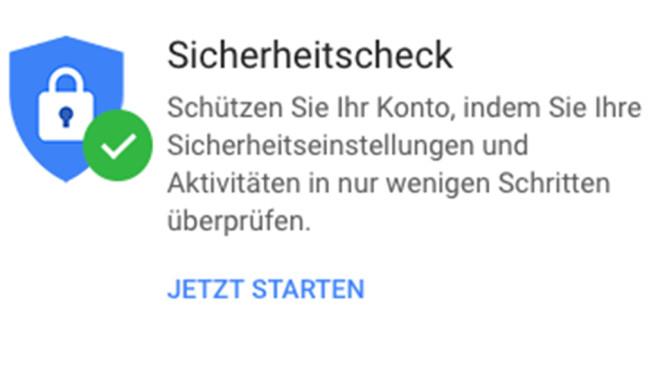 Google-Sicherheitscheck©Google